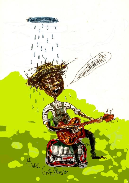 """Javi Guerrero,  Tinéu 1967. Cuenta les sos histories en formatu cómic y rellatu ilustráu, publícales dende va años nel webcómic """"Como los sapos ciegos"""". Autoedita recopilatorios en papel y fanzines. Collabora tamién con revistes-fanzines como TMEO, Zócalo o Cretino. Autor de los llibros de rellatos ilustraos y cómic """"Mi Marisa es un ángel"""" (2012) y """"Donde hay globos hay alegría"""" (2013) y miembru fundidor de la Fundición Princesa de Astucias."""